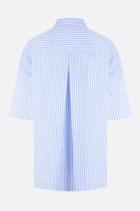 ASPESI: striped poplin bowling shirt Color Blue_2
