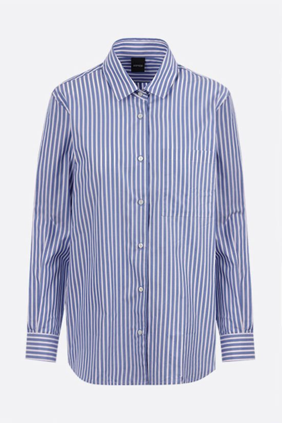 ASPESI: striped cotton shirt Color Blue_1