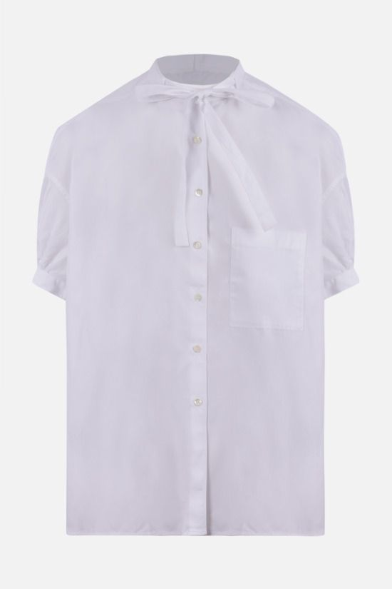 ASPESI: short-sleeved cotton shirt Color White_1