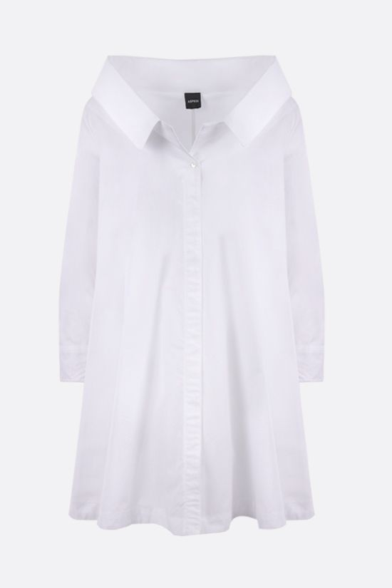 ASPESI: poplin long shirt Color White_1