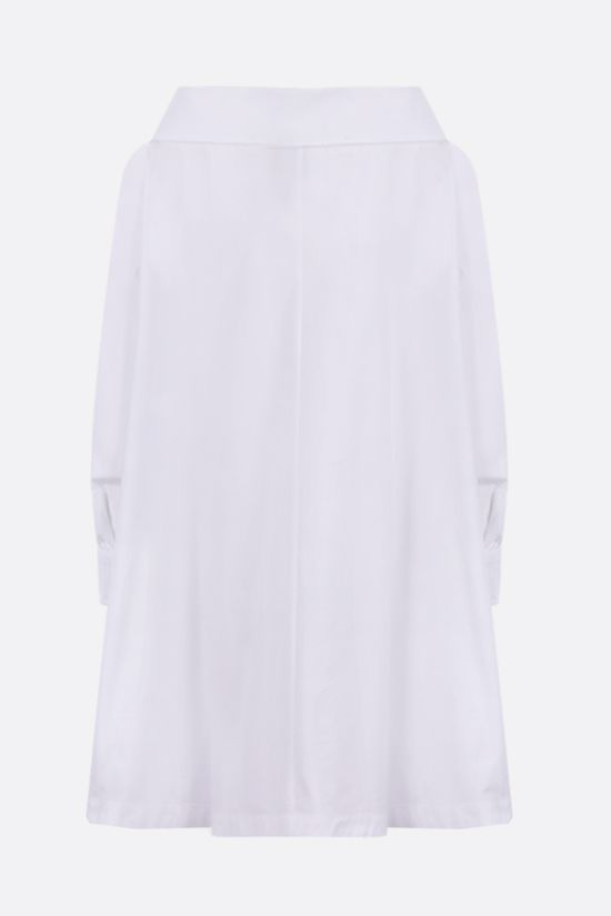 ASPESI: poplin long shirt Color White_2