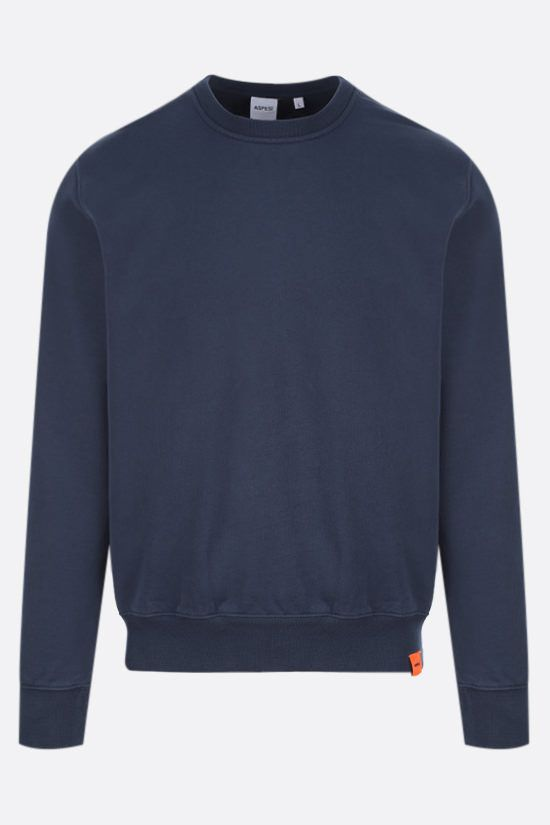 ASPESI: logo label cotton sweatshirt Color Blue_1