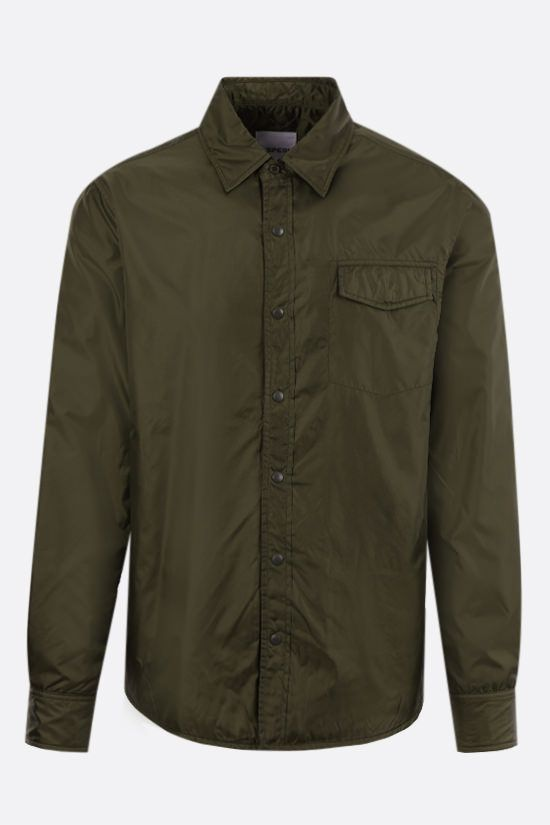 ASPESI: Marvin technical fabric padded overshirt Color Green_1