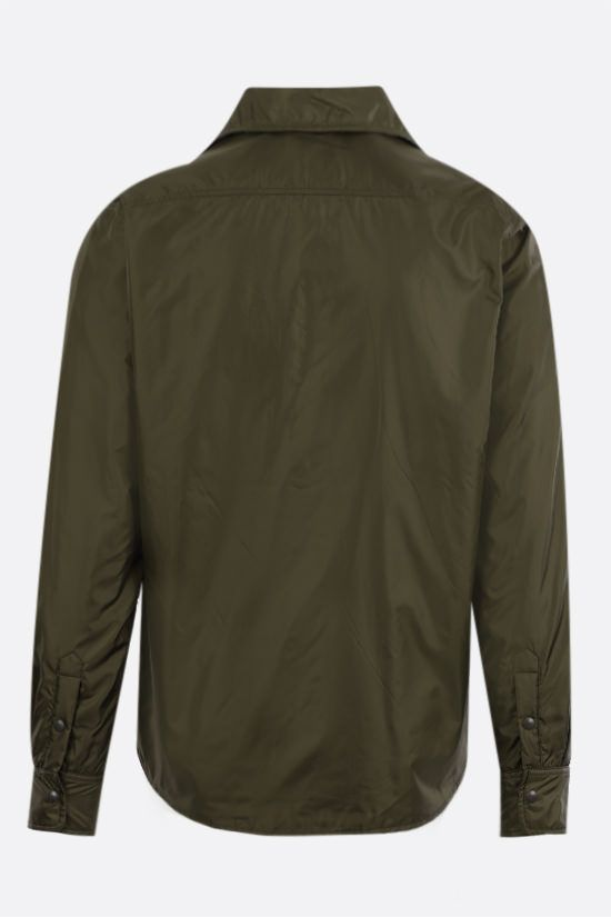 ASPESI: Marvin technical fabric padded overshirt Color Green_2