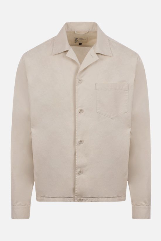 ASPESI: Bongo stretch cotton overshirt Color Neutral_1