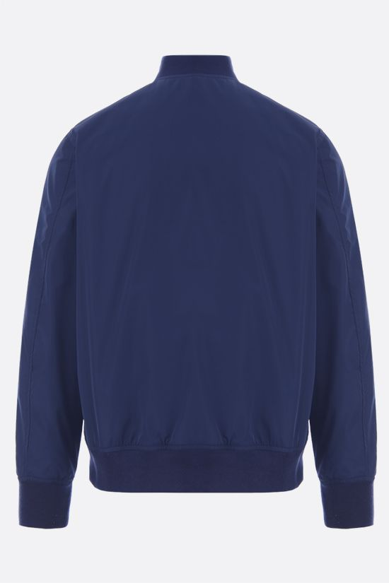 ASPESI: Swing nylon full-zip jacket Color Blue_2