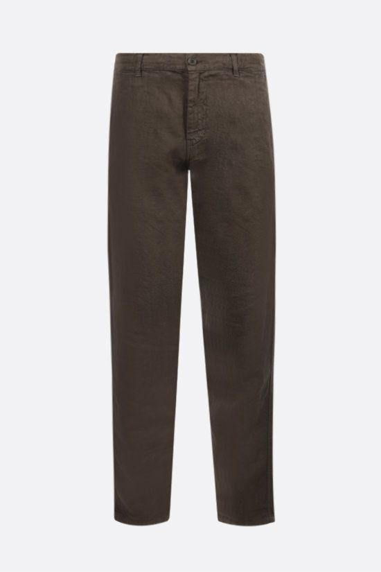 ASPESI: Funzionale linen drawstring pants Color Green_1