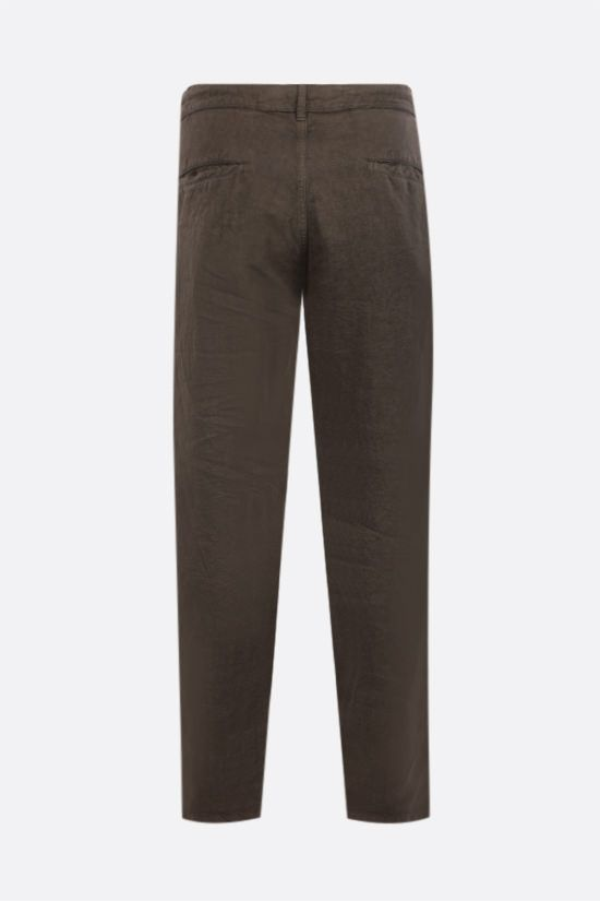 ASPESI: Funzionale linen drawstring pants Color Green_2