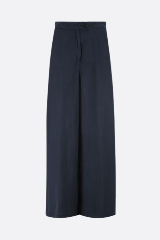 ASPESI: cotton linen blend wide-leg pants Color Blue_1