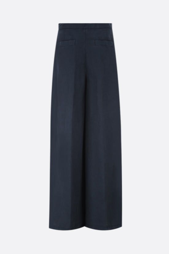 ASPESI: cotton linen blend wide-leg pants Color Blue_2