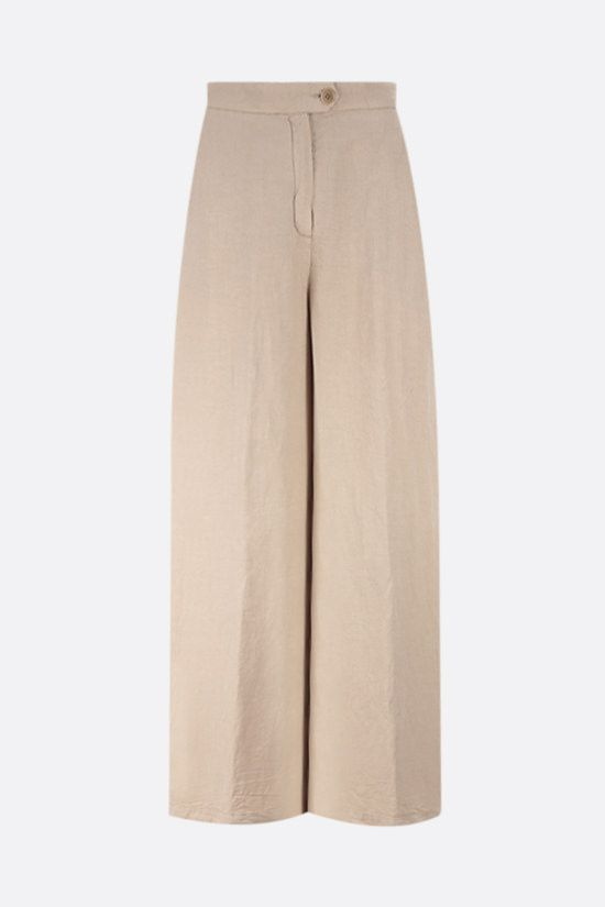 ASPESI: cotton linen blend wide-leg pants Color Neutral_1