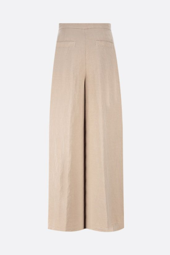 ASPESI: cotton linen blend wide-leg pants Color Neutral_2