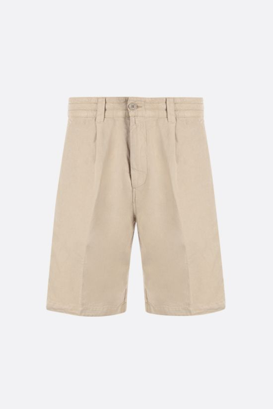 ASPESI: Flow twill shorts Color Neutral_1