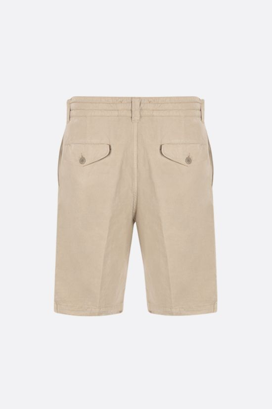ASPESI: Flow twill shorts Color Neutral_2