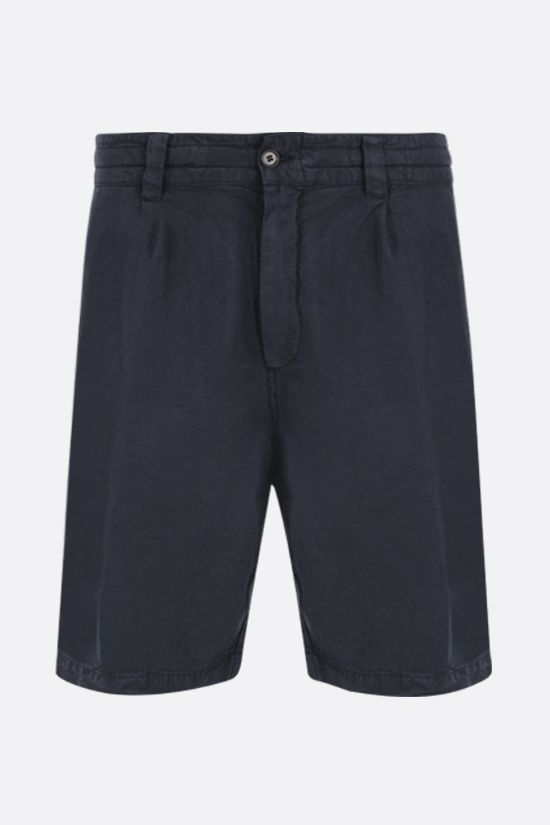ASPESI: Flow twill shorts Color Blue_1