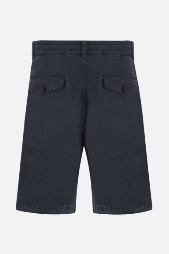 ASPESI: Flow twill shorts Color Blue_2