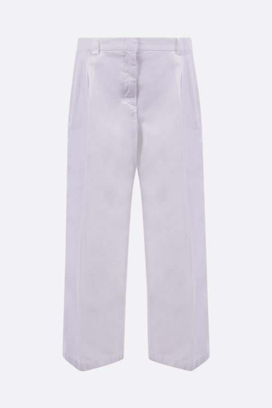 ASPESI: cotton linen blend cropped pants Color White_1