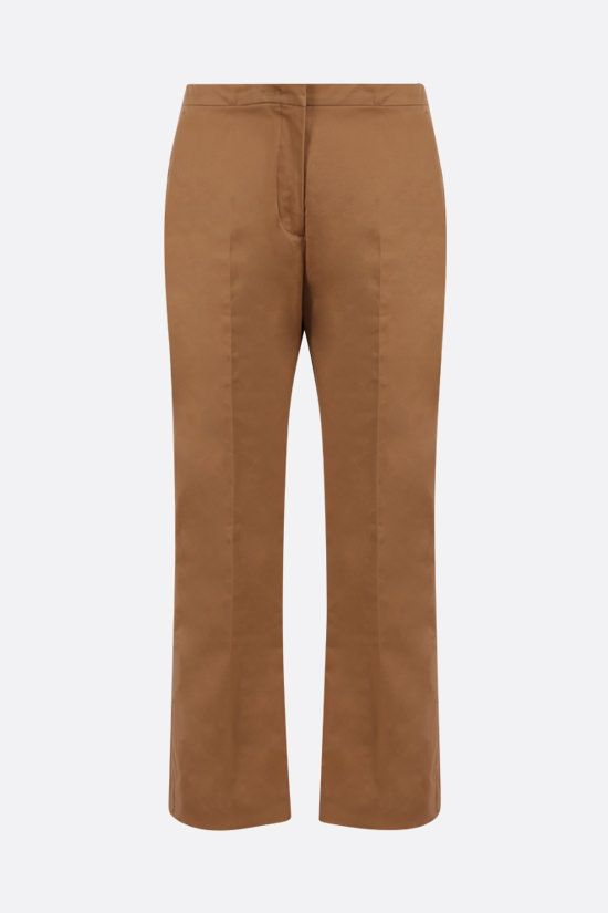 ASPESI: stretch cotton cropped pants Color Brown_1