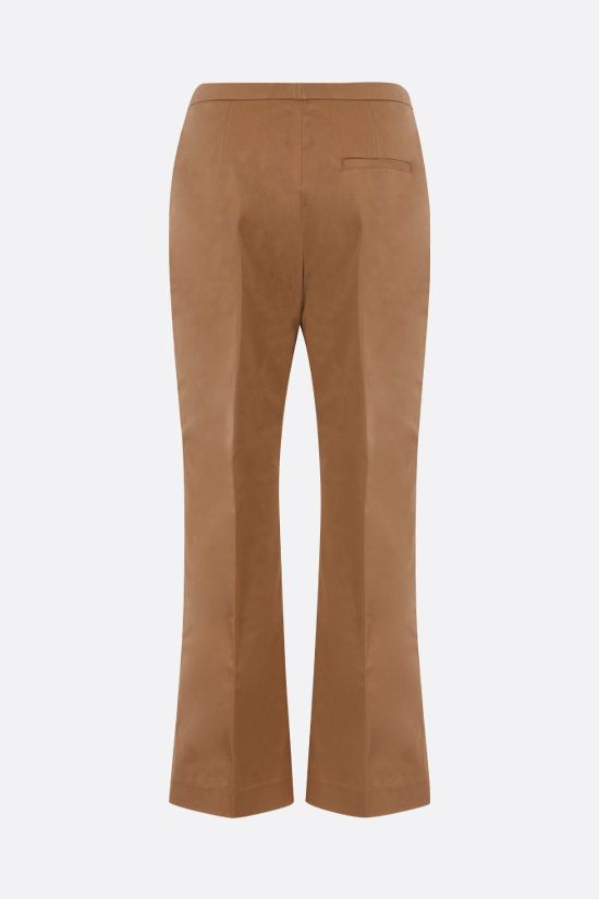 ASPESI: stretch cotton cropped pants Color Brown_2