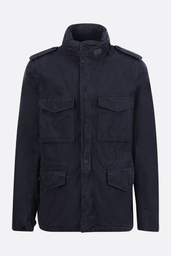 ASPESI: Minifield cotton bush jacket Color Blue_1
