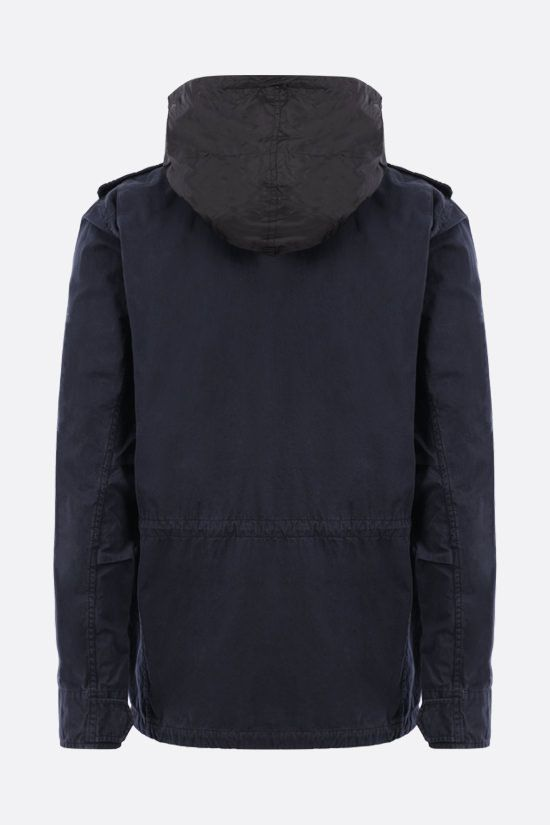 ASPESI: Minifield cotton bush jacket Color Blue_2