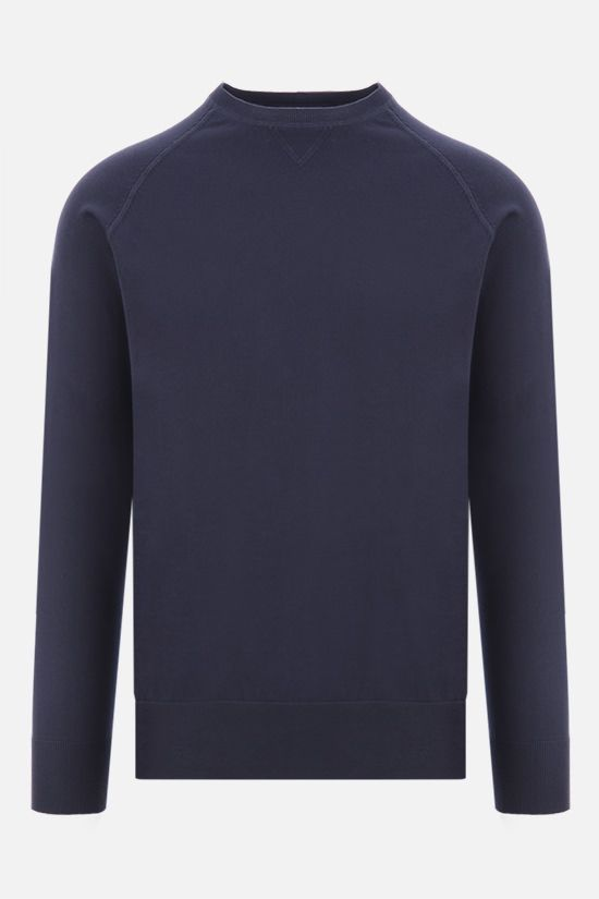 ASPESI: slim-fit cotton pullover Color Blue_1