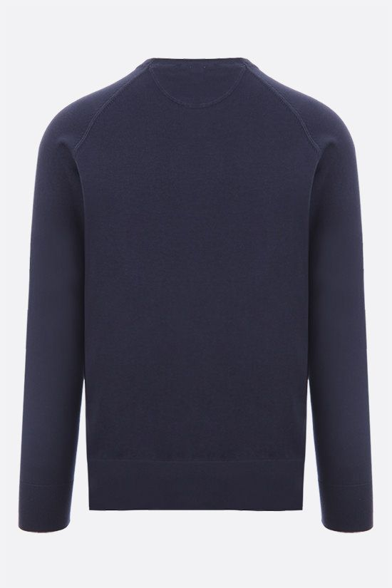 ASPESI: slim-fit cotton pullover Color Blue_2