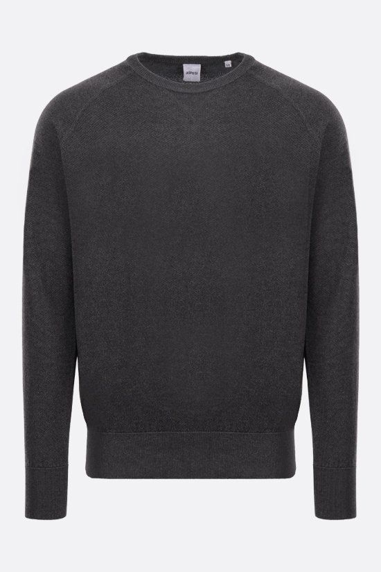 ASPESI: silk cashmere blend pullover Color Grey_1