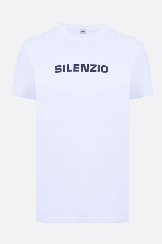 ASPESI: Silenzio cotton t-shirt Color White_1