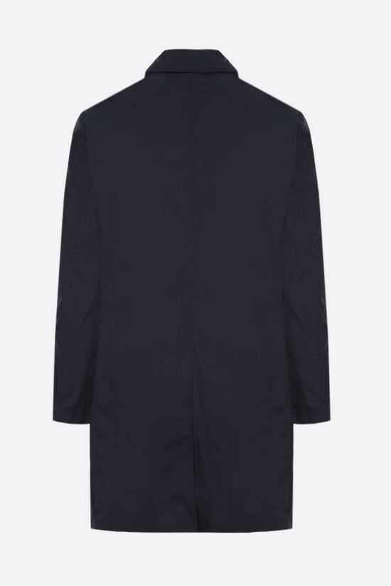 ASPESI: Limone single-breasted nylon overcoat Color Blue_2