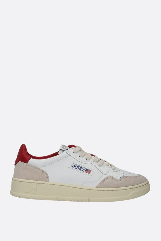 AUTRY: Autry Medalist smooth leather and suede sneakers Color Multicolor_1
