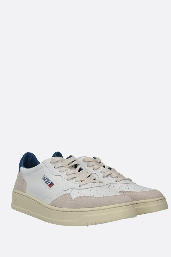 AUTRY: Autry Medalist smooth leather and suede sneakers Color Multicolor_2