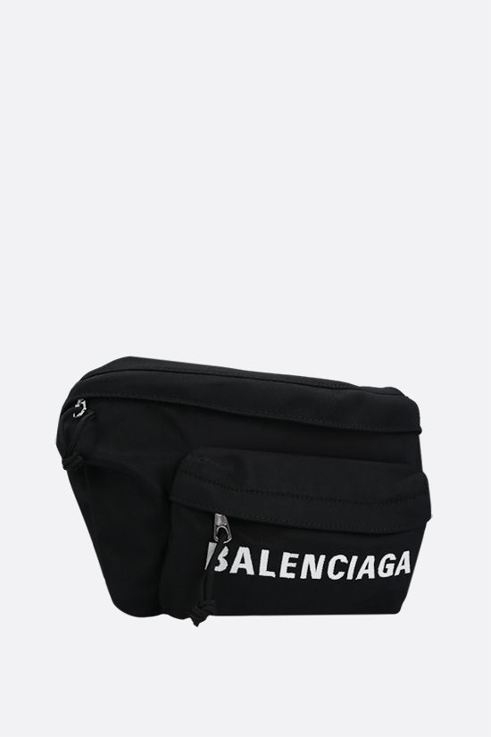BALENCIAGA: Wheel nylon belt bag Color Black_2