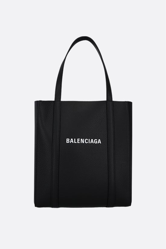BALENCIAGA: Everyday XXS smooth leather tote bag Color Black_1