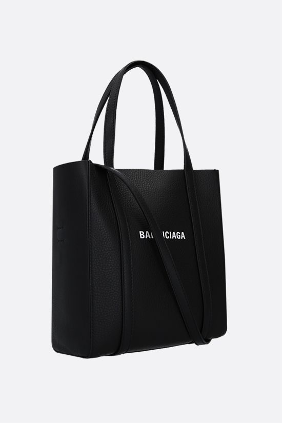 BALENCIAGA: Everyday XXS smooth leather tote bag Color Black_2