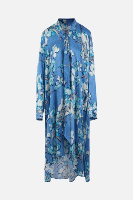 BALENCIAGA: Vareuse silk midi dress Color Blue_1
