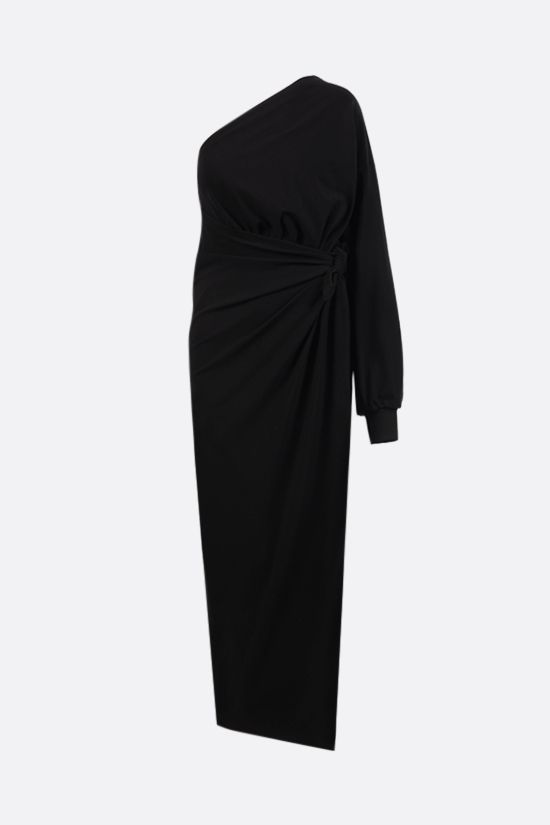BALENCIAGA: Body Wrap technical jersey one-shoulder dress Color Black_1