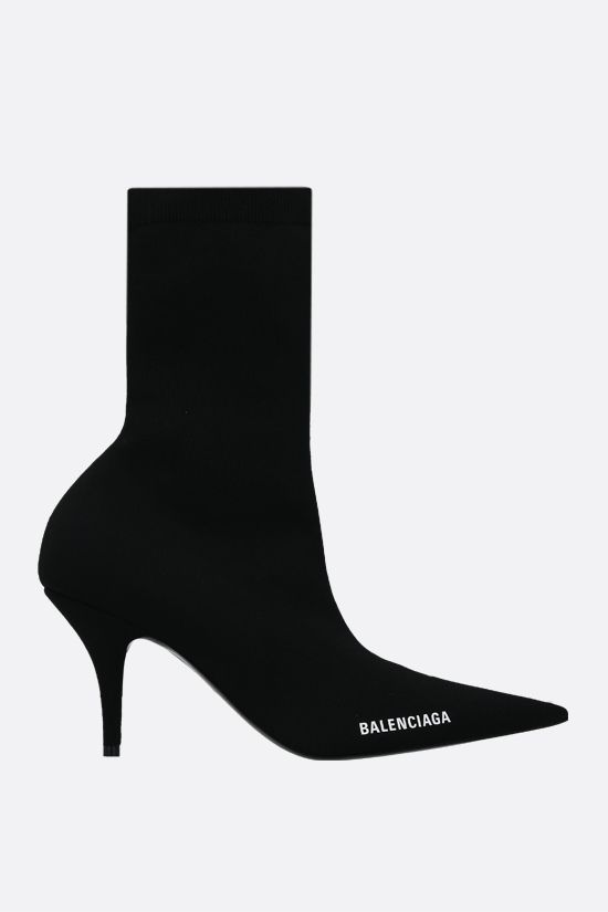 BALENCIAGA: Knife recycled knit ankle boots Color Black_1