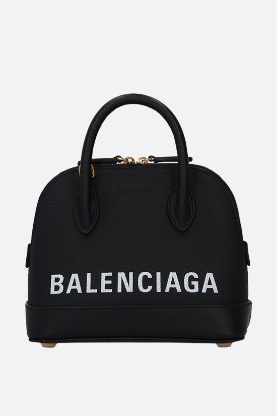 BALENCIAGA: Ville XXS grainy leather handbag Color Black_1