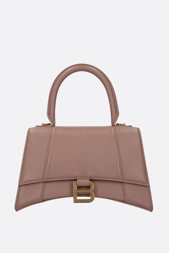 BALENCIAGA: Hourglass small grainy leather handbag Color Pink_1
