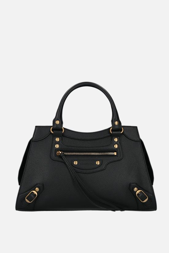 BALENCIAGA: Neo Classic City S grainy leather handbag Color Black_1