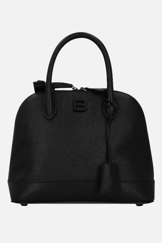 BALENCIAGA: Ville Supple S grainy leather handbag Color Black_1
