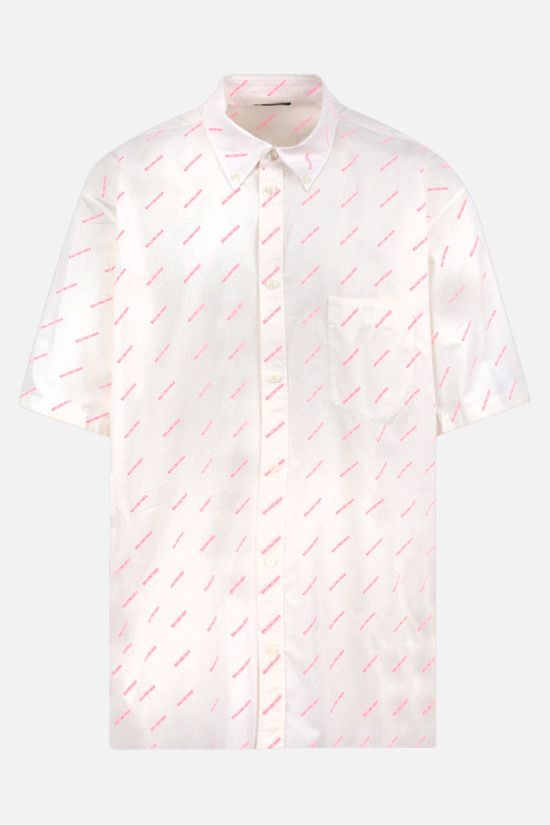 BALENCIAGA: Balenciaga print cotton short-sleeved shirt Color White_1