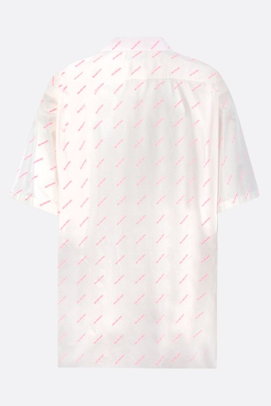 BALENCIAGA: Balenciaga print cotton short-sleeved shirt Color White_2