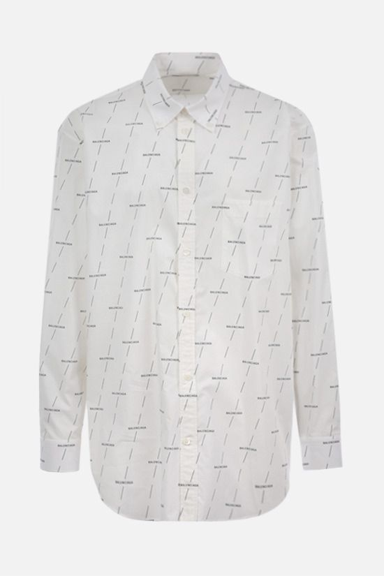 BALENCIAGA: Balenciaga print cotton shirt Color White_1