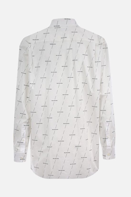BALENCIAGA: Balenciaga print cotton shirt Color White_2