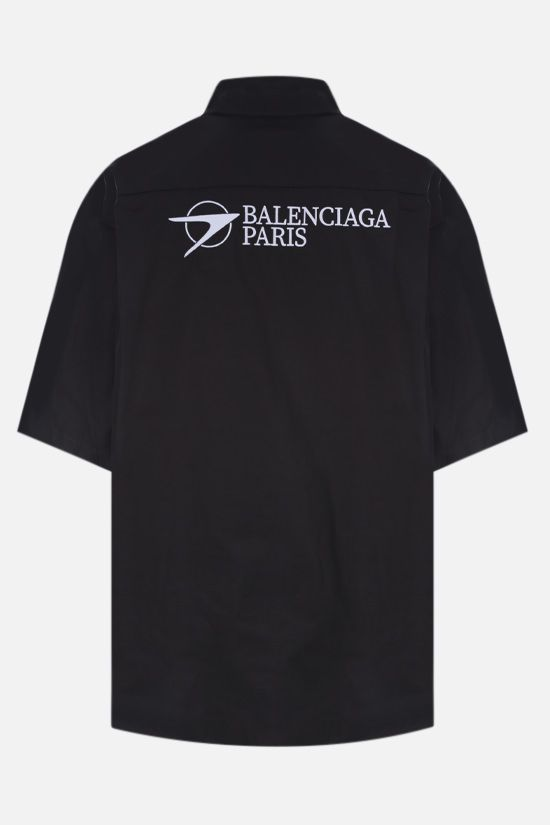 BALENCIAGA: Balenciaga Paris poplin bowling shirt Color Black_2