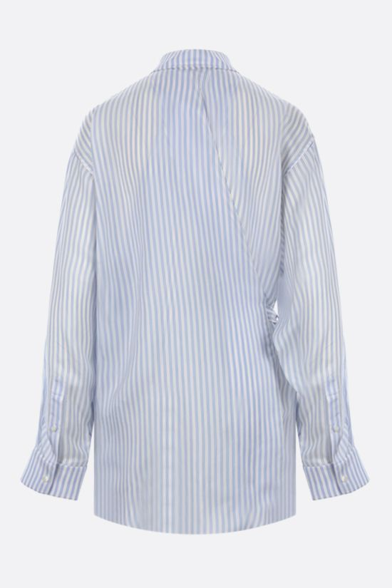 BALENCIAGA: oversize twill wrap shirt Color White_2