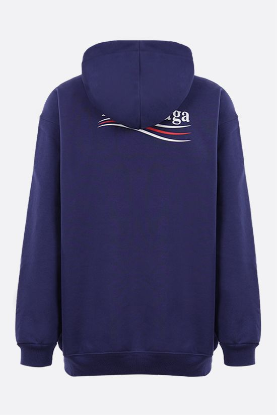 BALENCIAGA: Political Campaign oversize cotton hoodie Color Blue_2