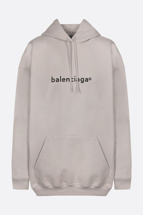 BALENCIAGA: balenciaga® print oversize cotton hoodie Color Grey_1